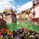 This romantic, alpine town in the Rhone-Alpes region of southeast France has castles and cathedrals and lovely architecture. The medieval Chateau d'Annecy was once home to the Counts of Geneva and now houses a museum.