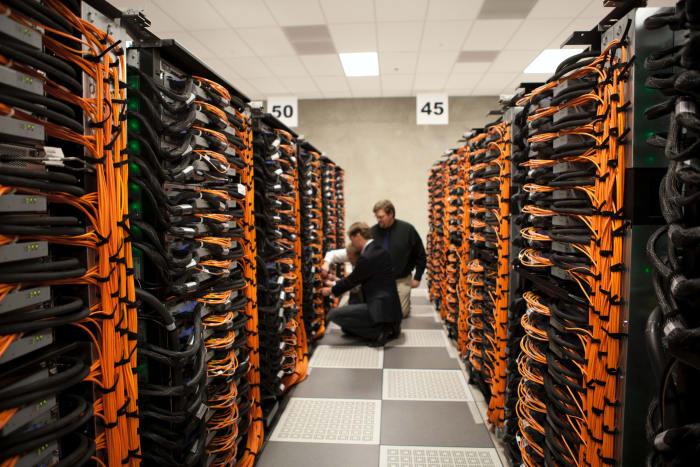 Large server room.