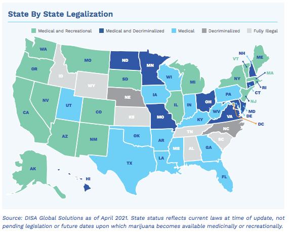 State By State Marijuana Legalization
