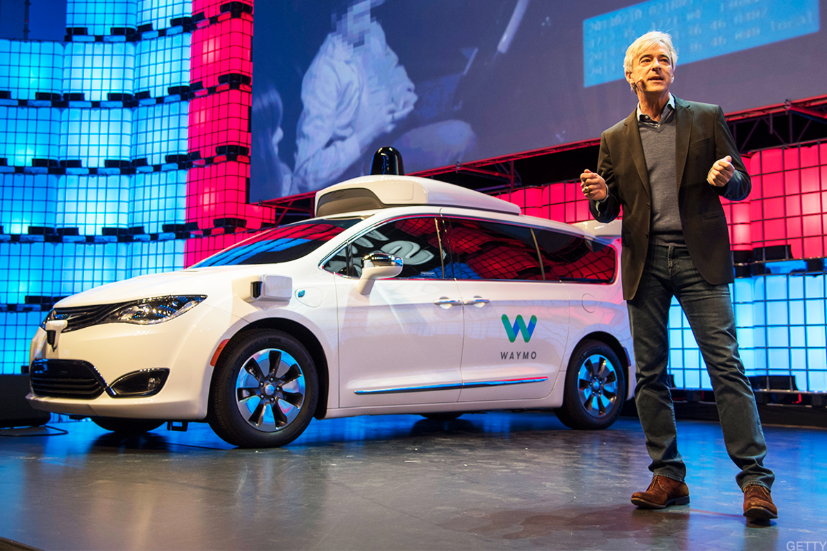 Waymo's autonomous driving taxi.
