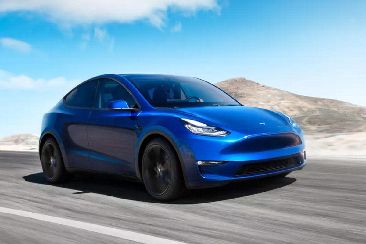 Tesla's next vehicle, the Model Y.