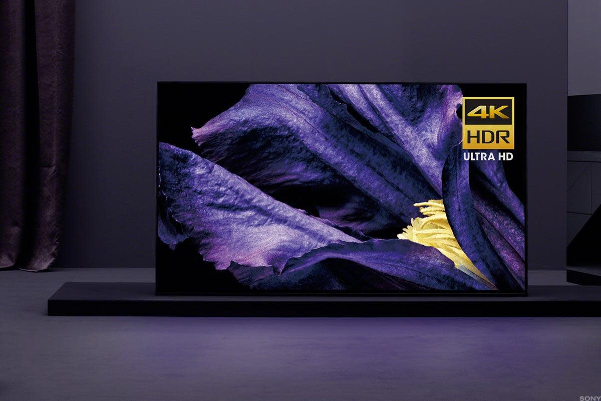 The Bravia A9F, one of Sony's new high-end television sets.