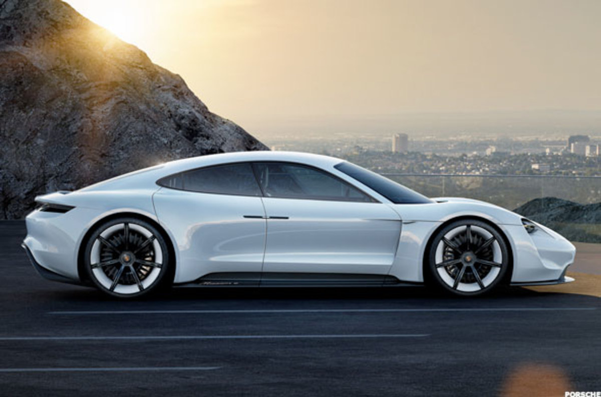 The final design for the Porsche Taycan has not yet been revealed, but this is its Mission E concept. Many expect the Taycan to look similar.
