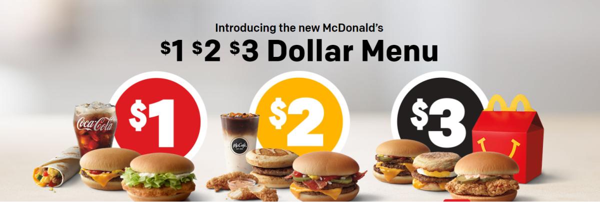 the new dollar menu