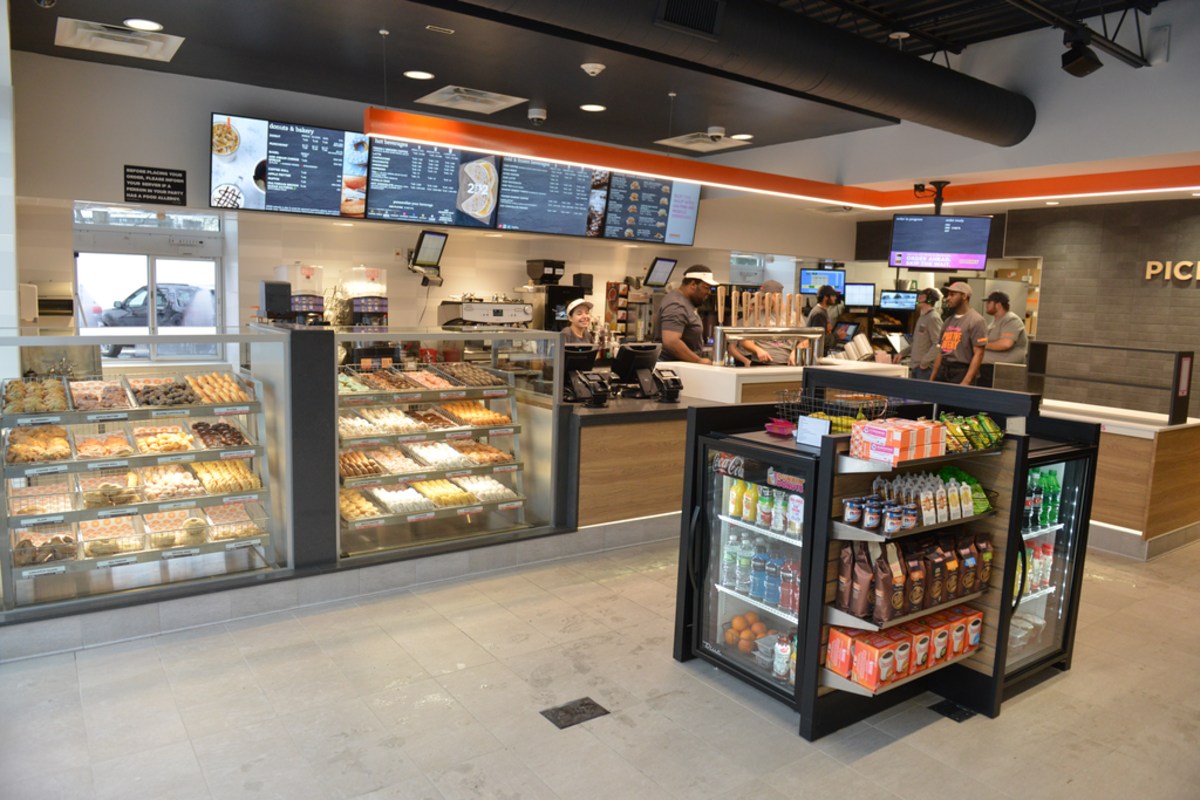 Inside the new Dunkin'. Source: Dunkin' Donuts