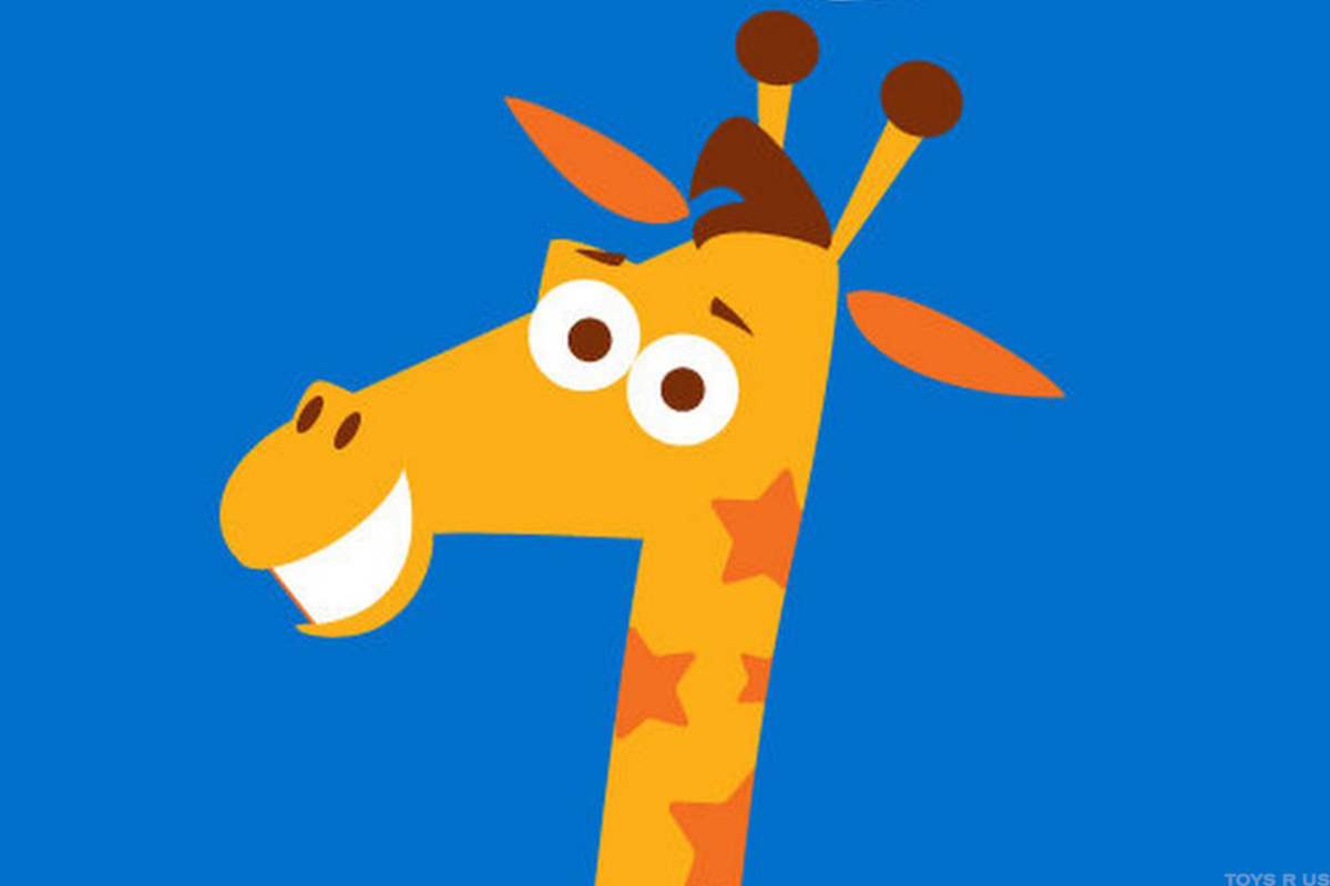 Things aren't looking very happy for Toys 'R' Us mascot Geoffrey the Giraffe.