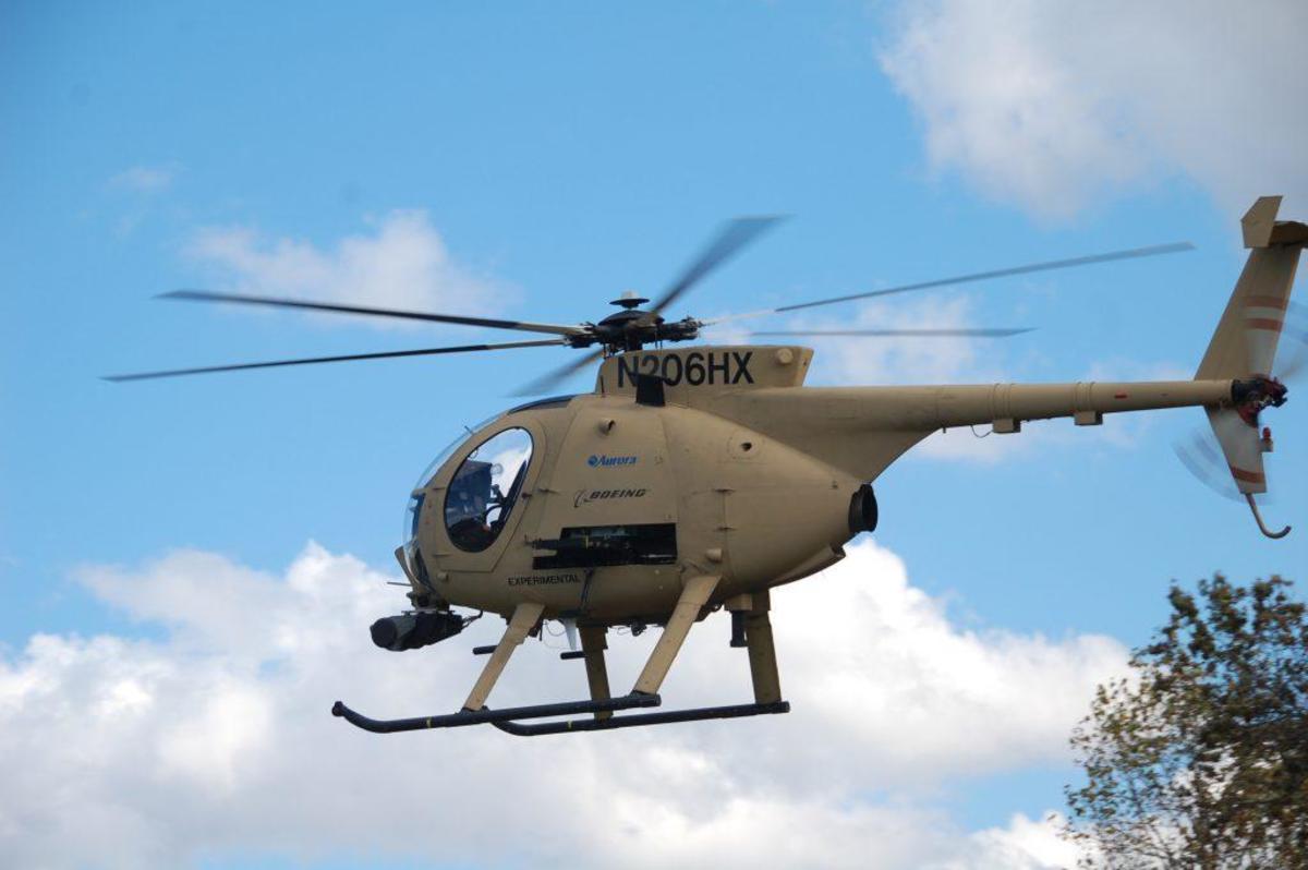 Aurora's AACUS autonomous helicopter platform.