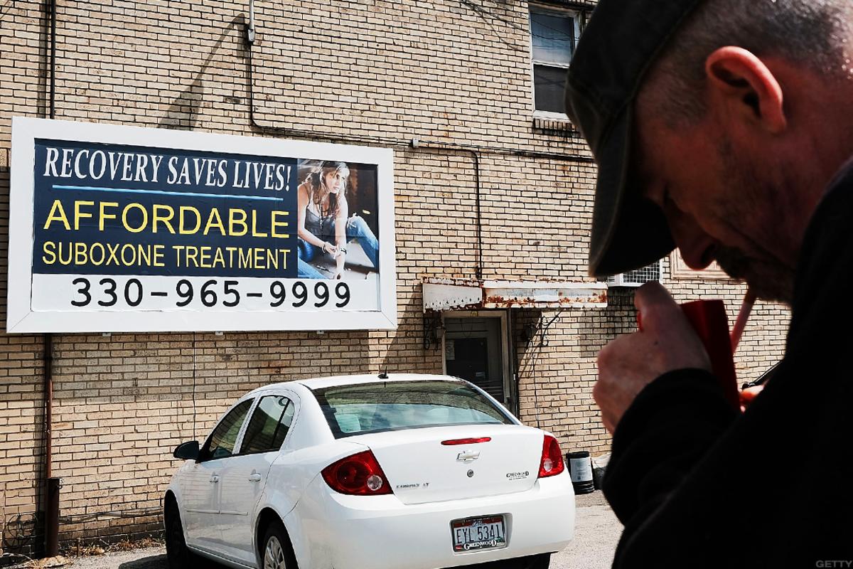 A sign for rehabilitation clinics in Ohio.