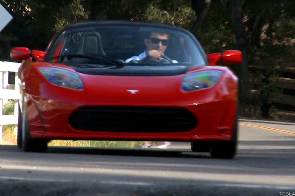 The recently introduced Tesla Roadster, just one of several vehicle projects the automaker has.