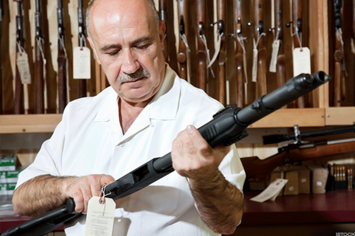 Gunmaker stocks often pop following mass shootings, as enthusiasts fear tighter gun laws could result.