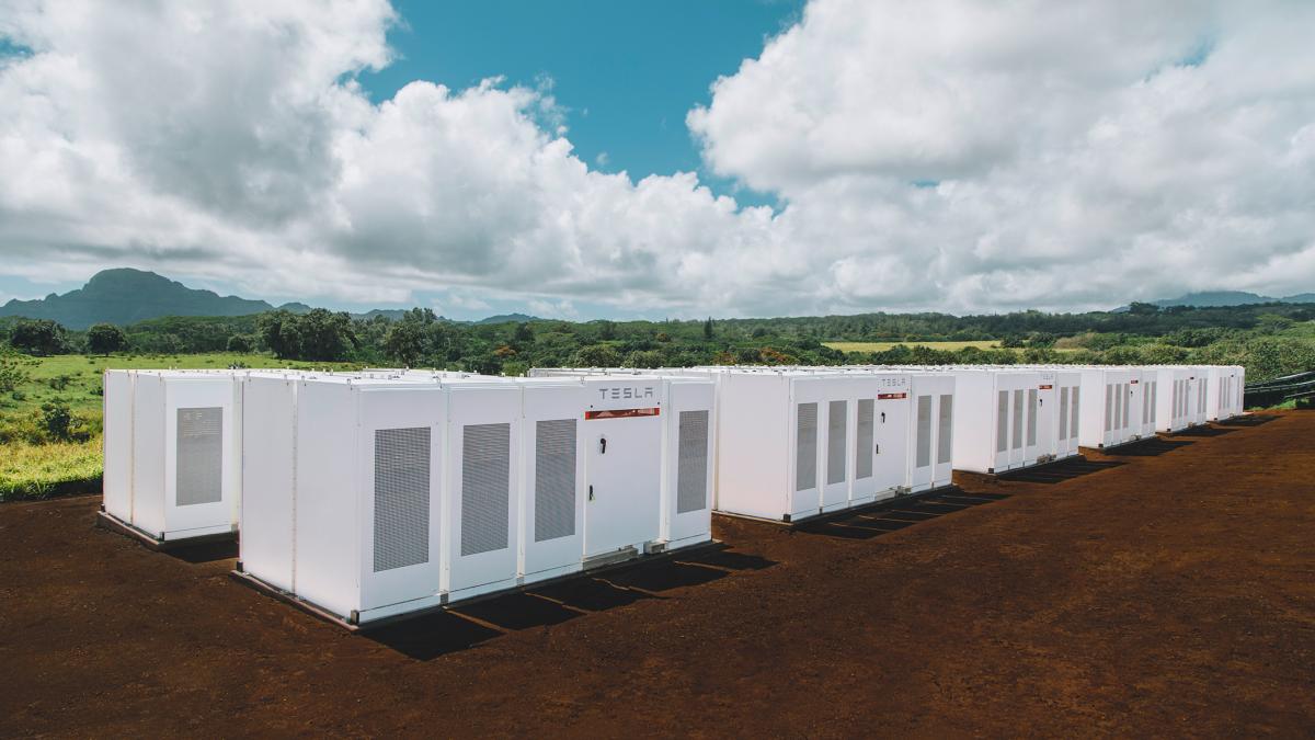 A Tesla Powerpack deployment in Hawaii.