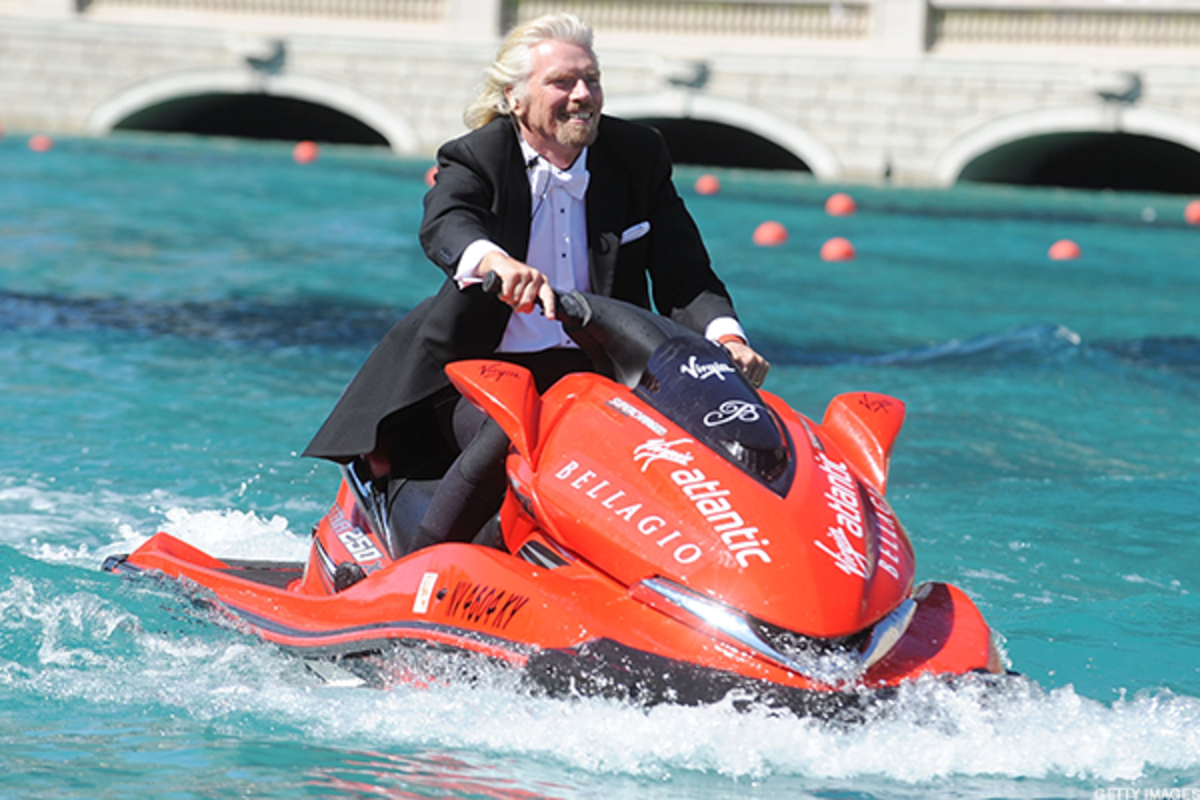 Virgin Galactic founder Richard Branson doesn't just like Jet Skis. He's also building spaceships.