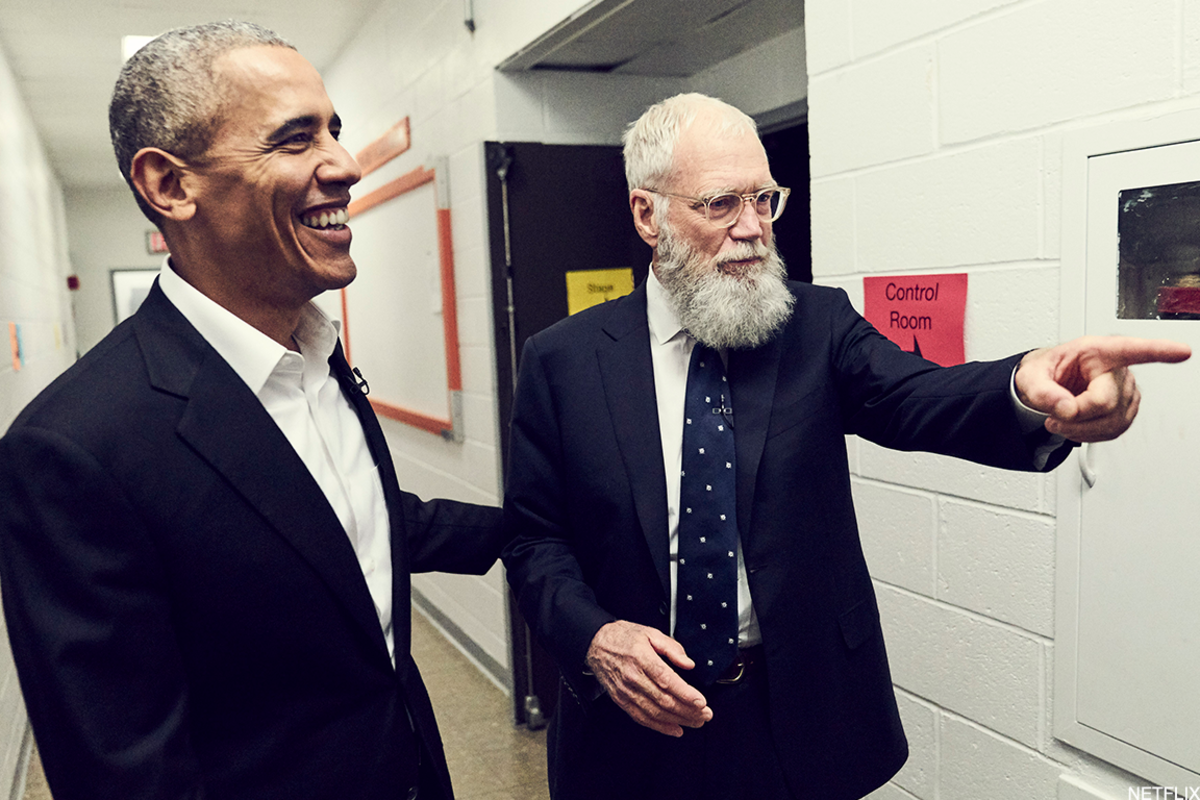"""Former president Barack Obama was David Letterman's first guest on the new Netflix series """"My Next Guest Needs No Introduction."""""""