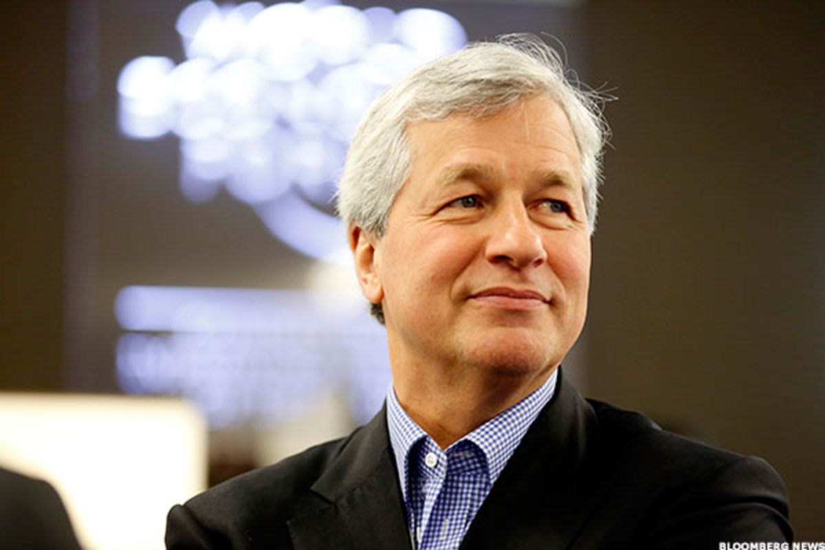 Jim Cramer says JPMorgan Chase should have a good year in 2018 under 'able' CEO Jamie Dimon.