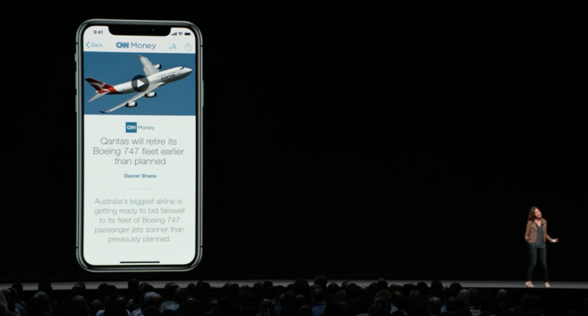 Apple News stories will be available from within the Stocks app.
