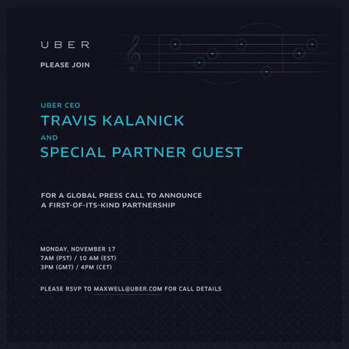 4Pm Cet To Pst uber announces deal with spotify to allow music on the go
