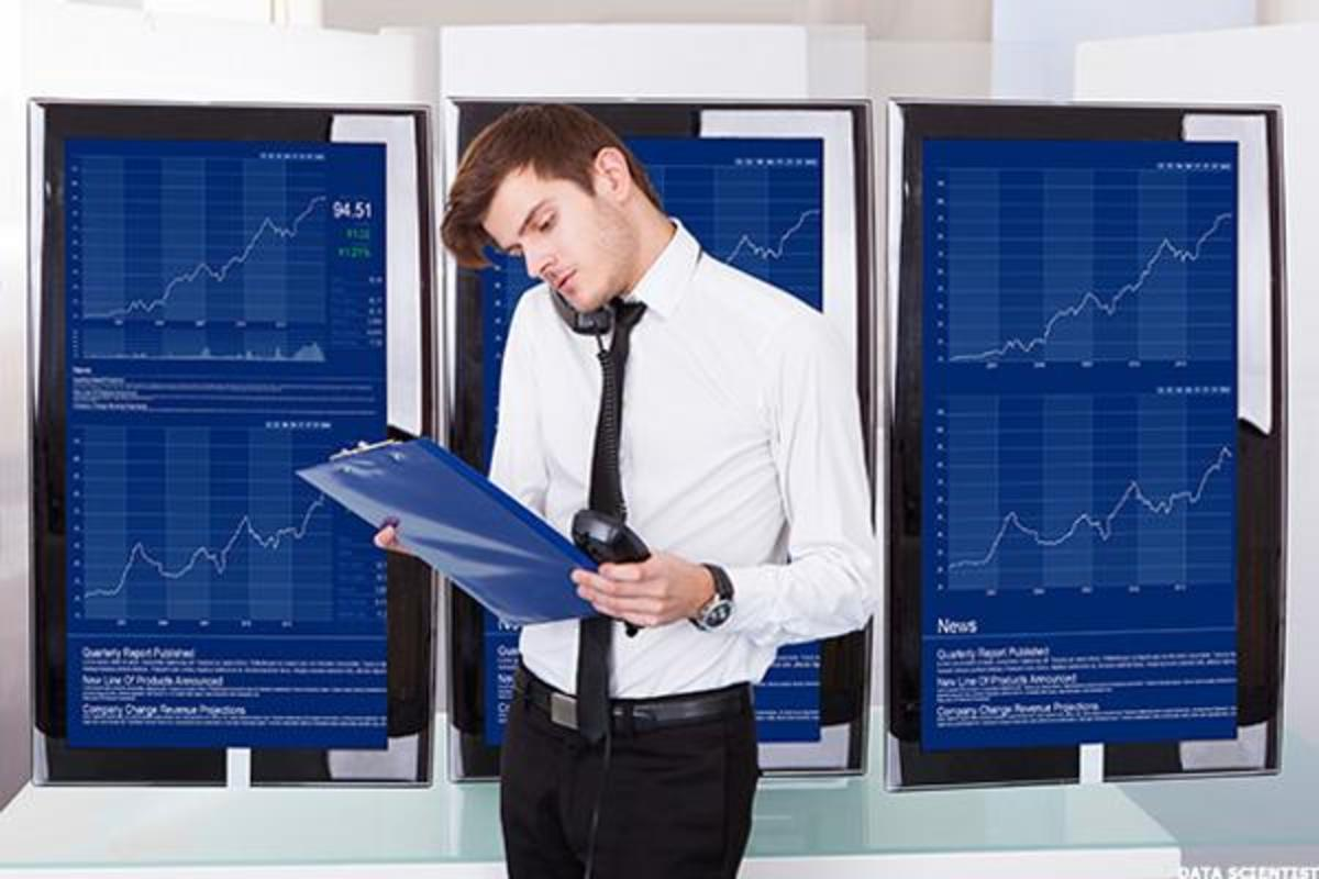Data scientist checking the charts