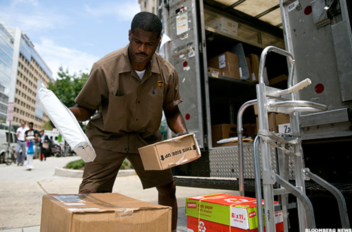 UPS Fourth-Quarter Earnings Bolstered by Amazon-Driven Demand