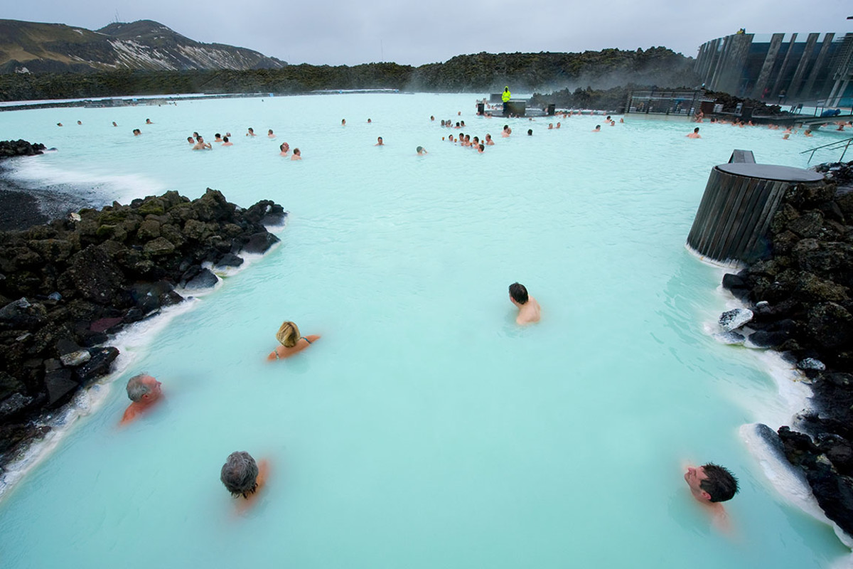 Iceland's Blue Lagoon, a geothermal bath resort.