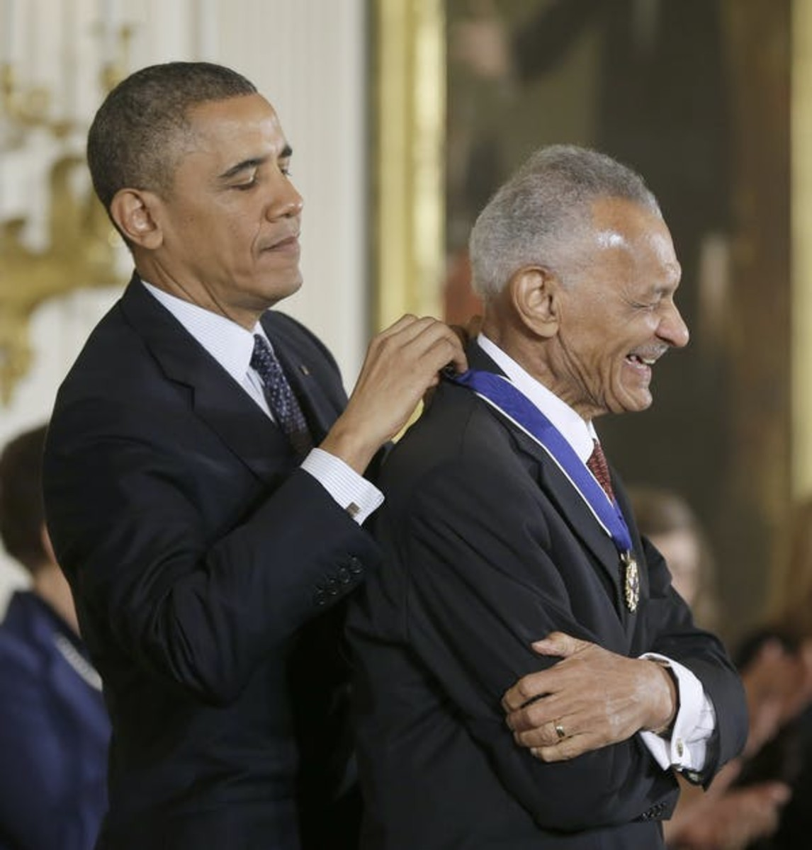 President Obama awarded Rev. C.T. Vivian the Presidential Medal of Freedom in 2013. AP Photo/Pablo Martinez Monsivais