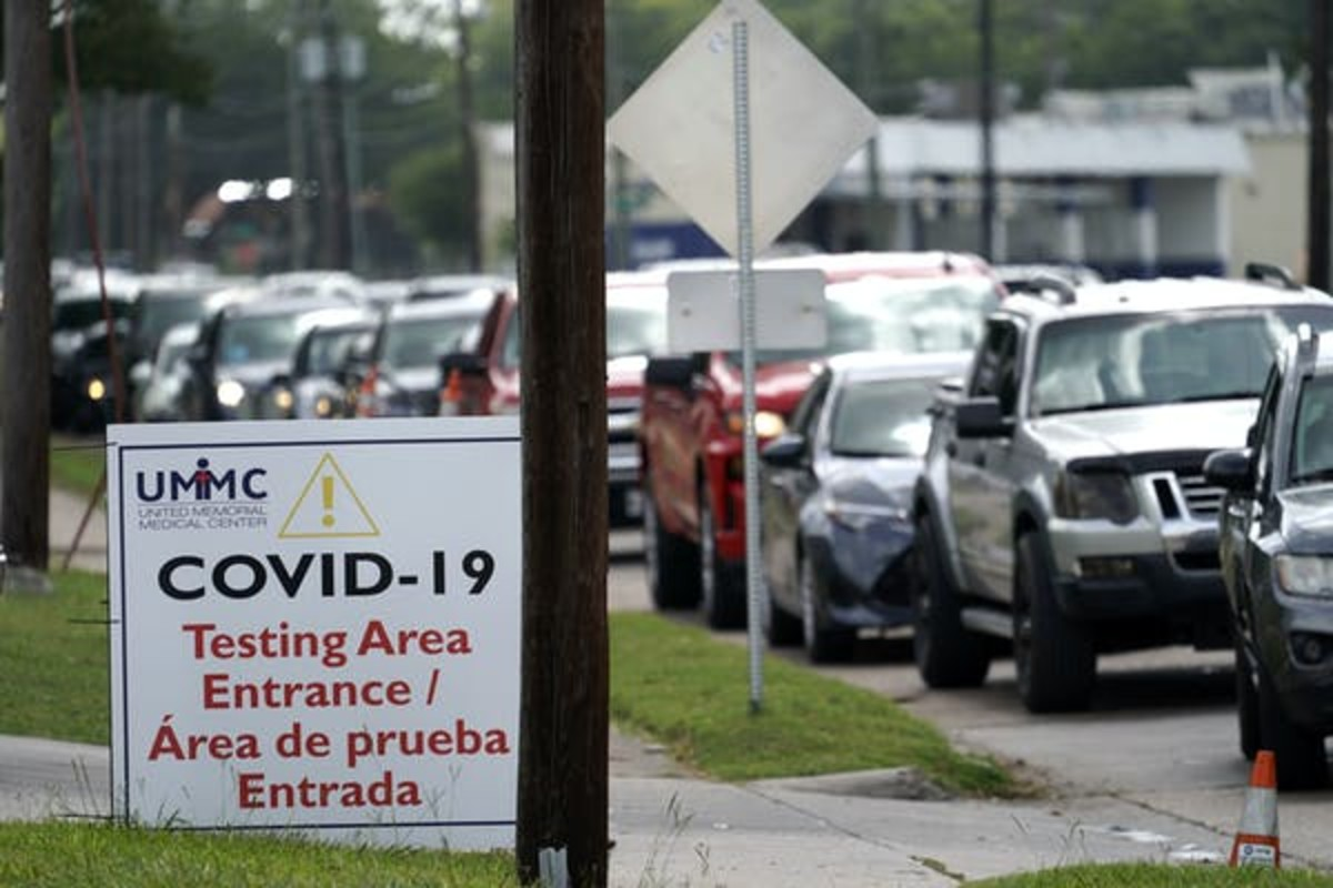 Long lines, slow turnaround times for results and shortages of testing capacity all make Texas one of the worst places to get a test in the U.S. AP Photo/David J. Phillip