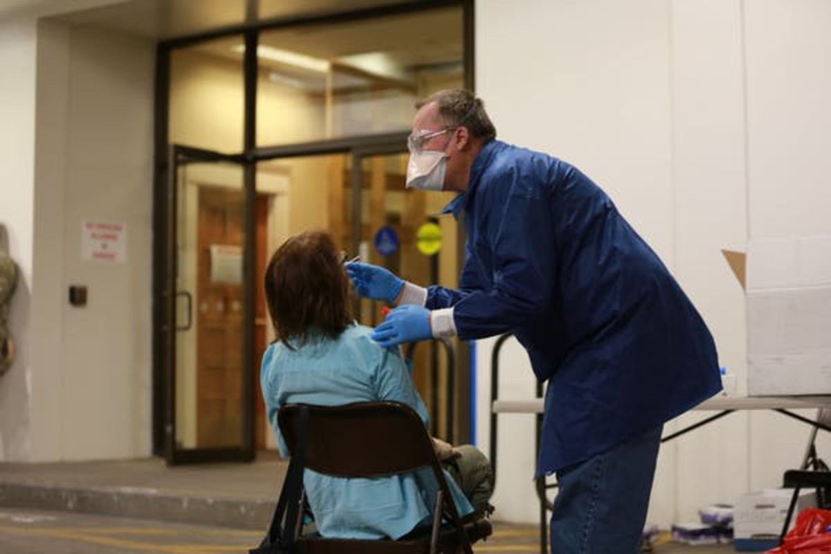 In New Mexico, it is relatively easy to get a test, so more people are getting tested. AP Photo/Cedar Attanasio