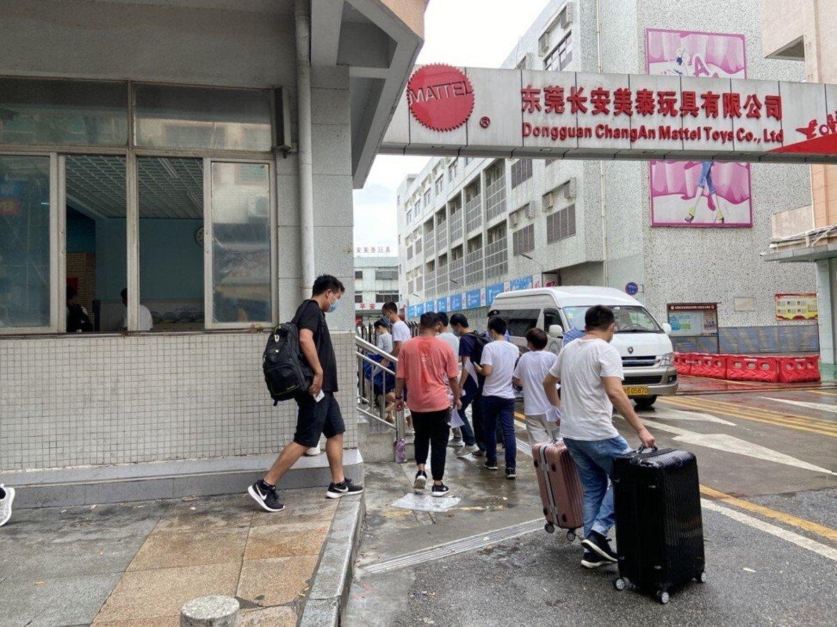 Dongguan Chang An Mattel Toys is one of the few factories still actively recruiting. Photo: Huifeng He