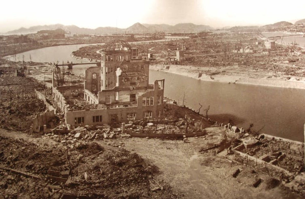 The Hiroshima Prefecture Industrial Promotion Hall after the blast. Maarten Heerlien/Flickr, CC BY-SA
