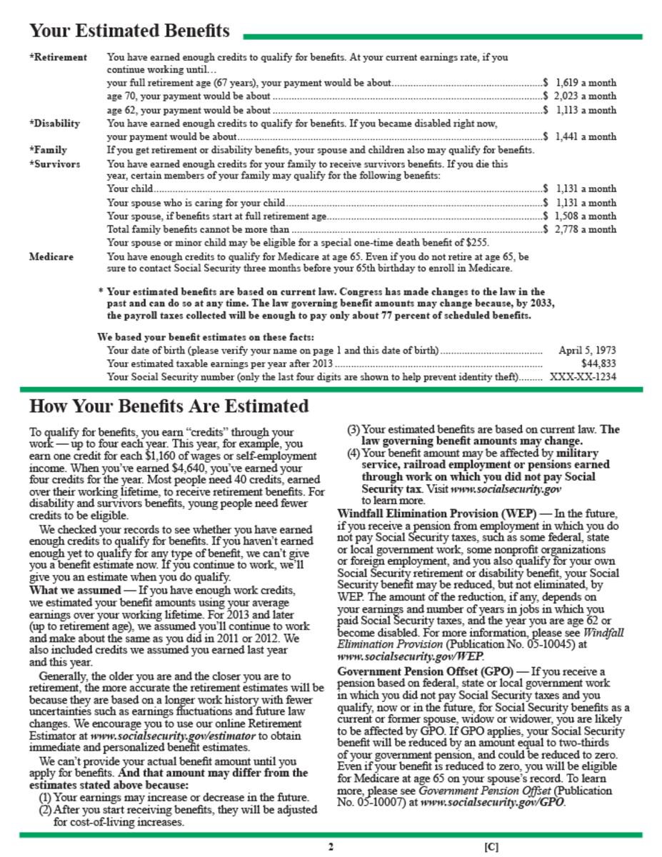 Social Security Earnings Statements