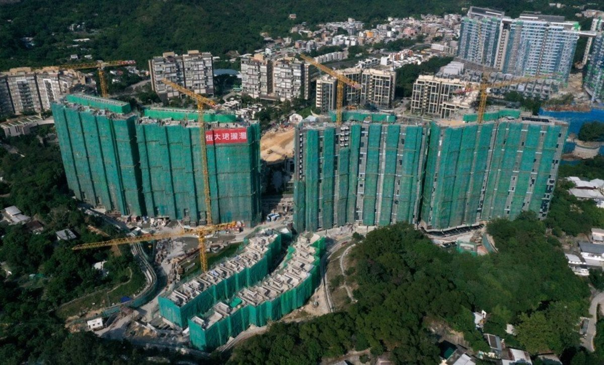 An aerial view of the Emerald Bay project in Tuen Mun, Hong Kong, one of Evergande's many residential developments. Photo: Winson Wong