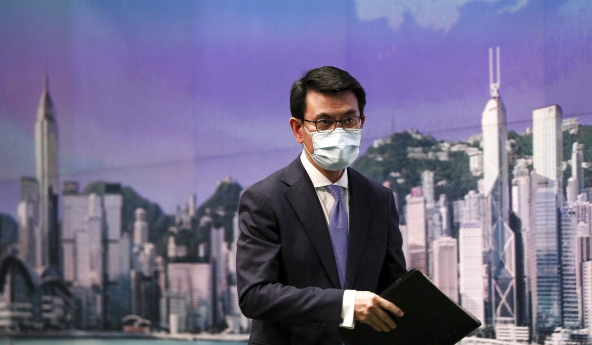 Secretary for Commerce and Economic Development Edward Yau announced the planned Hong Kong-Singapore travel bubble on Thursday. Photo: Jonathan Wong