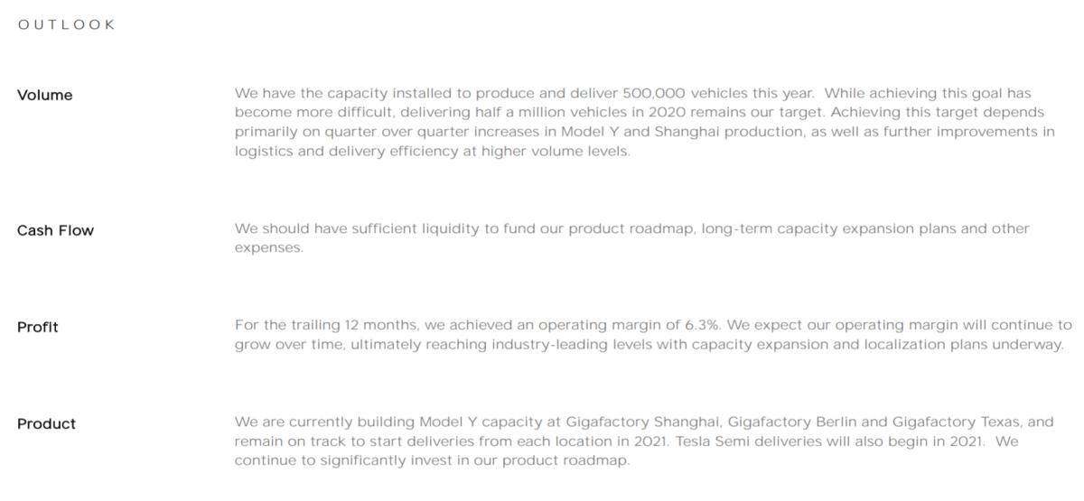 Tesla's official outlook. Source: Tesla.