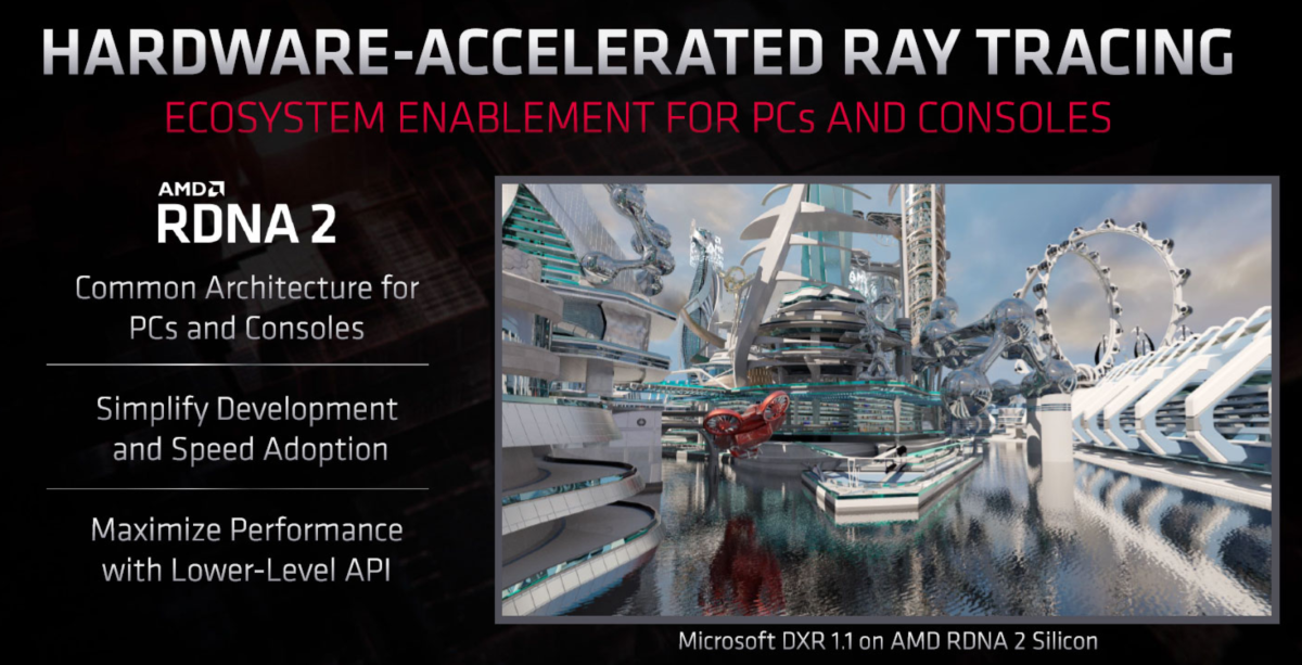 AMD's RDNA 2 GPUs are the first from the company to support hardware-accelerated ray-tracing.
