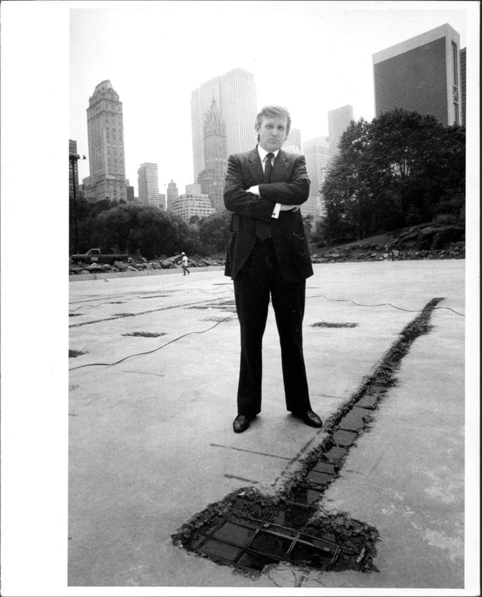 Donald Trump in Central Park, Aug. 7, 1985. Arty Pomerantz/New York Post Archives /(c) NYP Holdings, Inc. via Getty Images