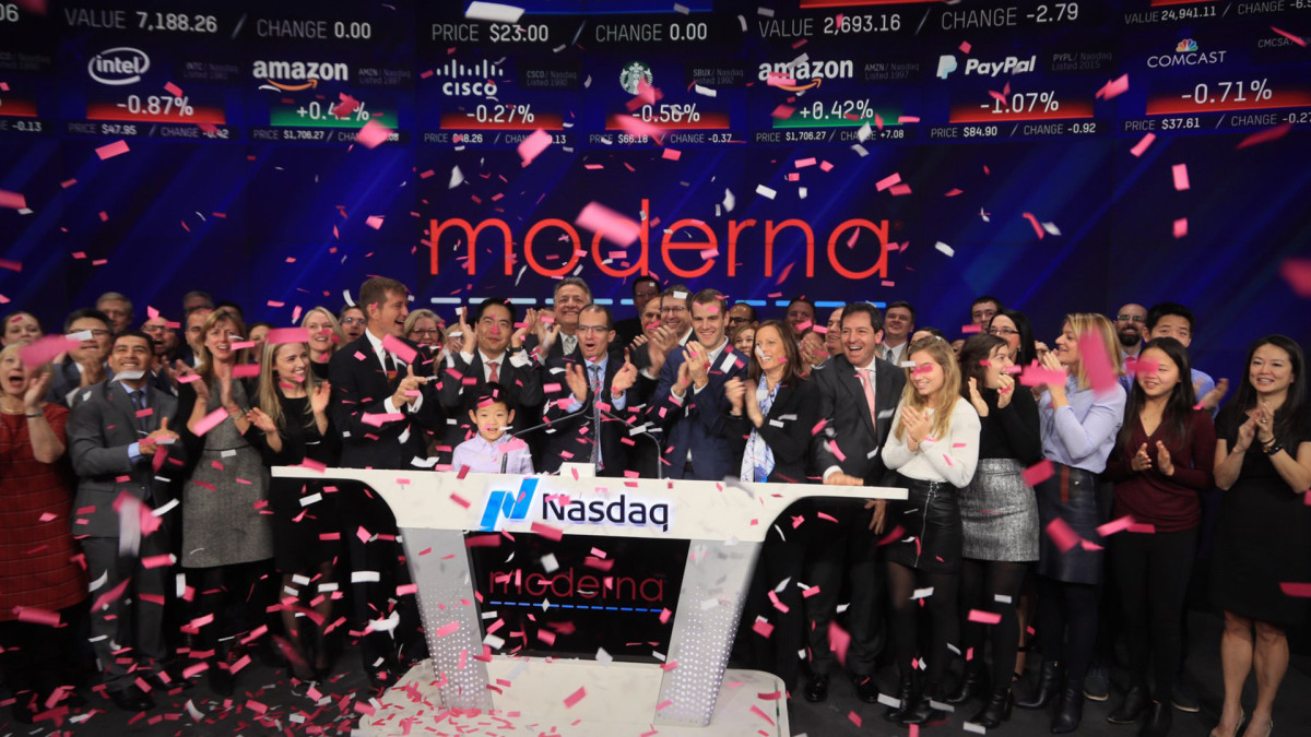 8 Best Stocks in the Nasdaq This Past Week: Moderna Climbs