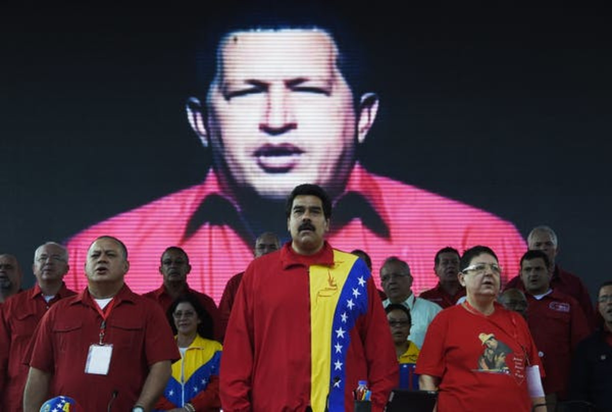 Venezuelan President Nicolas Maduro is seen during the United Socialist Party of Venezuela's annual congress on July 31, 2014, at Caracas' Mountain Barracks, where the remains of former President Hugo Chavez rest. Juan Barreto/AFP via Getty Images