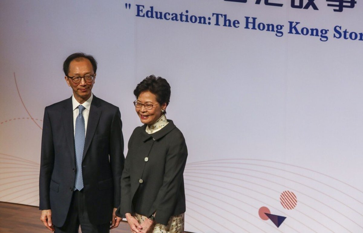 Antony Leung, left, Hong Kong's former financial secretary and co-founder of New Frontier Group, was behind a SPAC that acquired United Family Healthcare in a US$1.44 billion deal in 2018. Photo: Jonathan Wong
