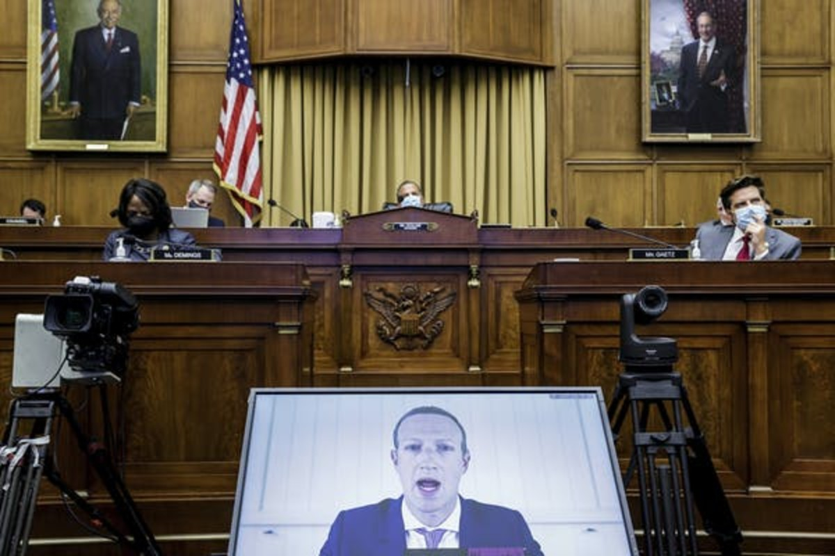 Lawmakers have been increasingly grilling tech companies like Facebook in recent years. Graeme Jennings/Washington Examiner via AP