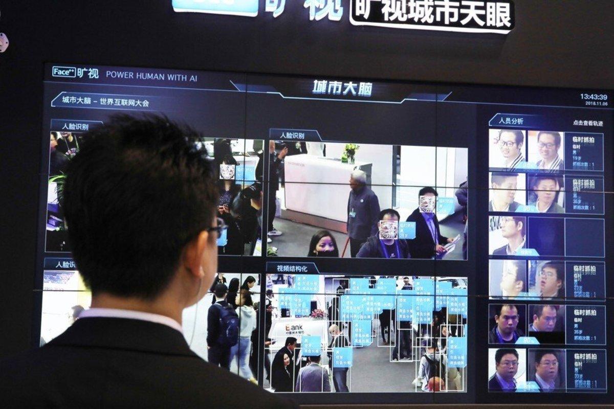 The Face ++ facial recognition system. Photo: Simon Song