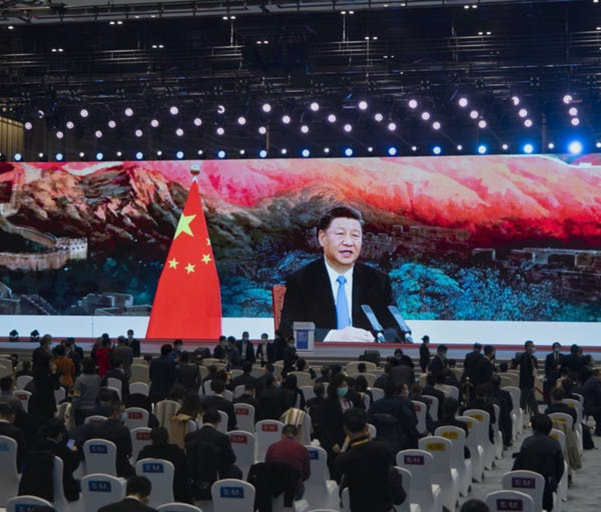 Chinese president Xi Jinping addresses recent World Internet Conference in Wuzhen, China. EPA