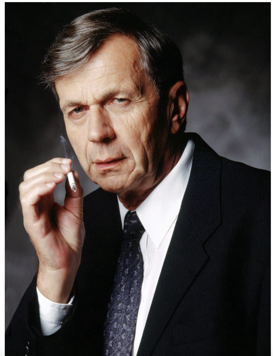 William B. Davis as the Cigarette Smoking Man in The X-Files Copyright Fox Broadcasting Company