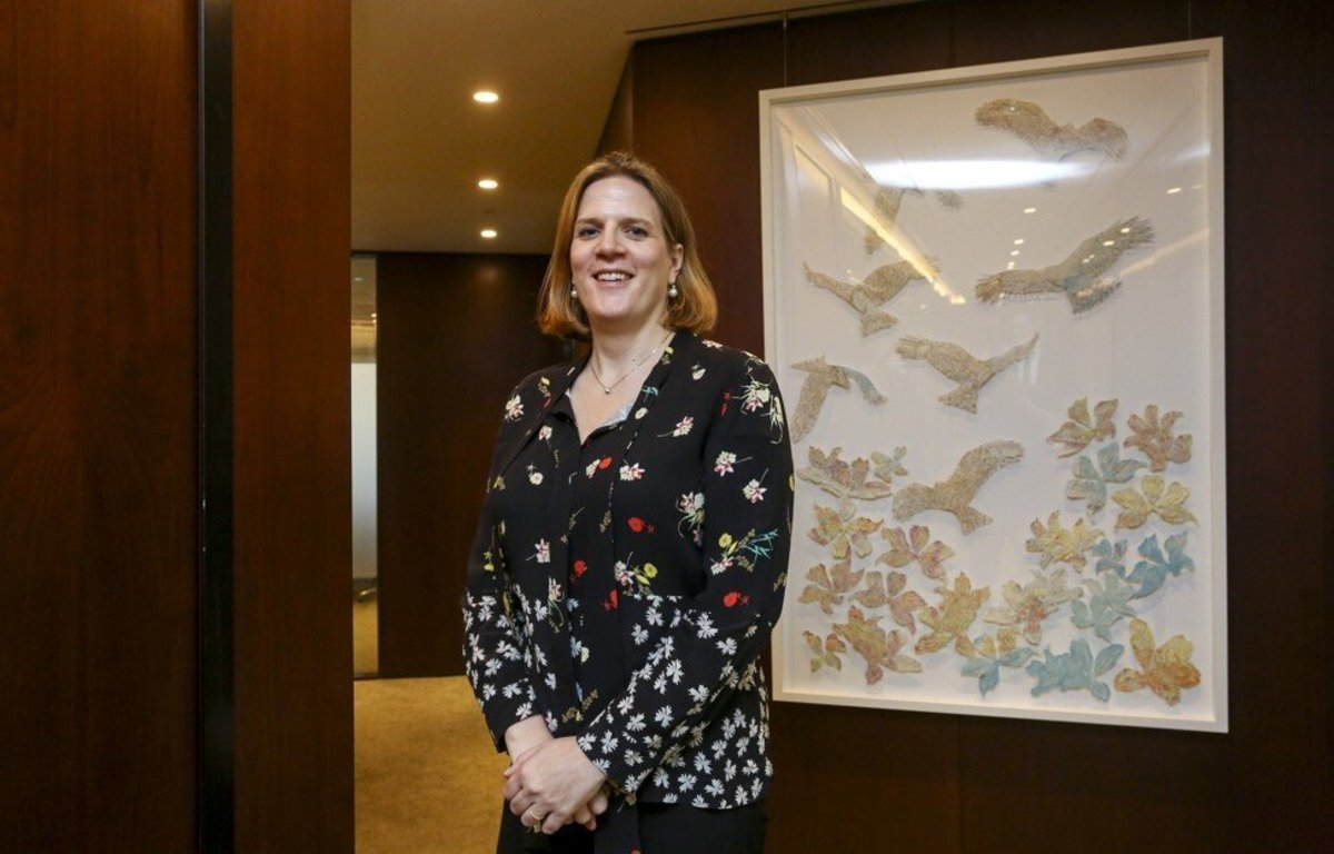 Geraldine Buckingham, BlackRock's head of Asia-Pacific, said there has been a 'tectonic shift' in financial markets and economies on climate change. Photo: Jonathan Wong