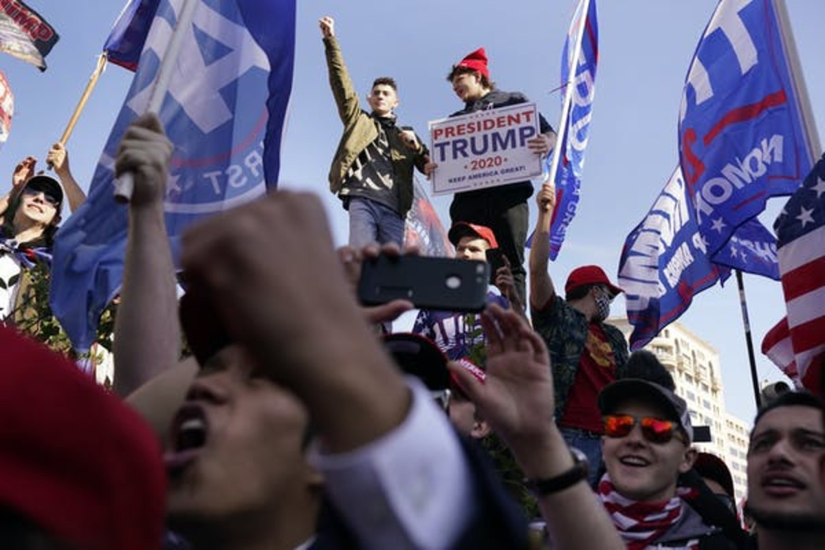 Supporters of President Donald Trump marched in Washington, D.C., on Nov. 14. AP Photo/Jacquelyn Martin