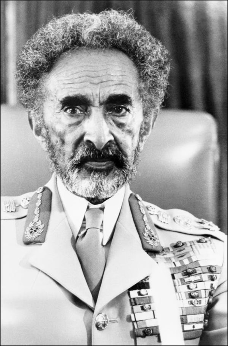 Ethiopian Emperor Haile Selassie was deposed in late 1974 after the disastrous famine of 1973 led to economic chaos, industrial strikes and mutiny among the armed forces. STAFF/AFP via Getty Images