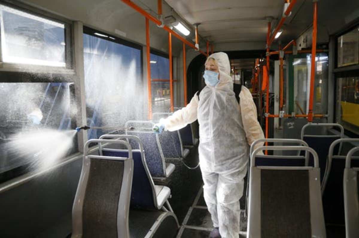 Most viruses will eventually die on their own. But cleaning with alcohol, bleach and other chemicals can kill them more quickly. AP Photo/Efrem Lukatsky