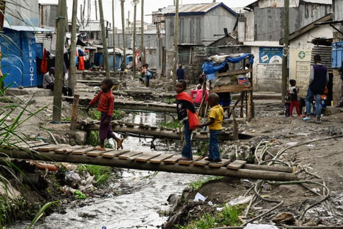 The Mukuru Kwa Njenga slum in Nairobi. COVID-19 is expected to be even more devastating for poor countries. Simon Maina/GettyImages