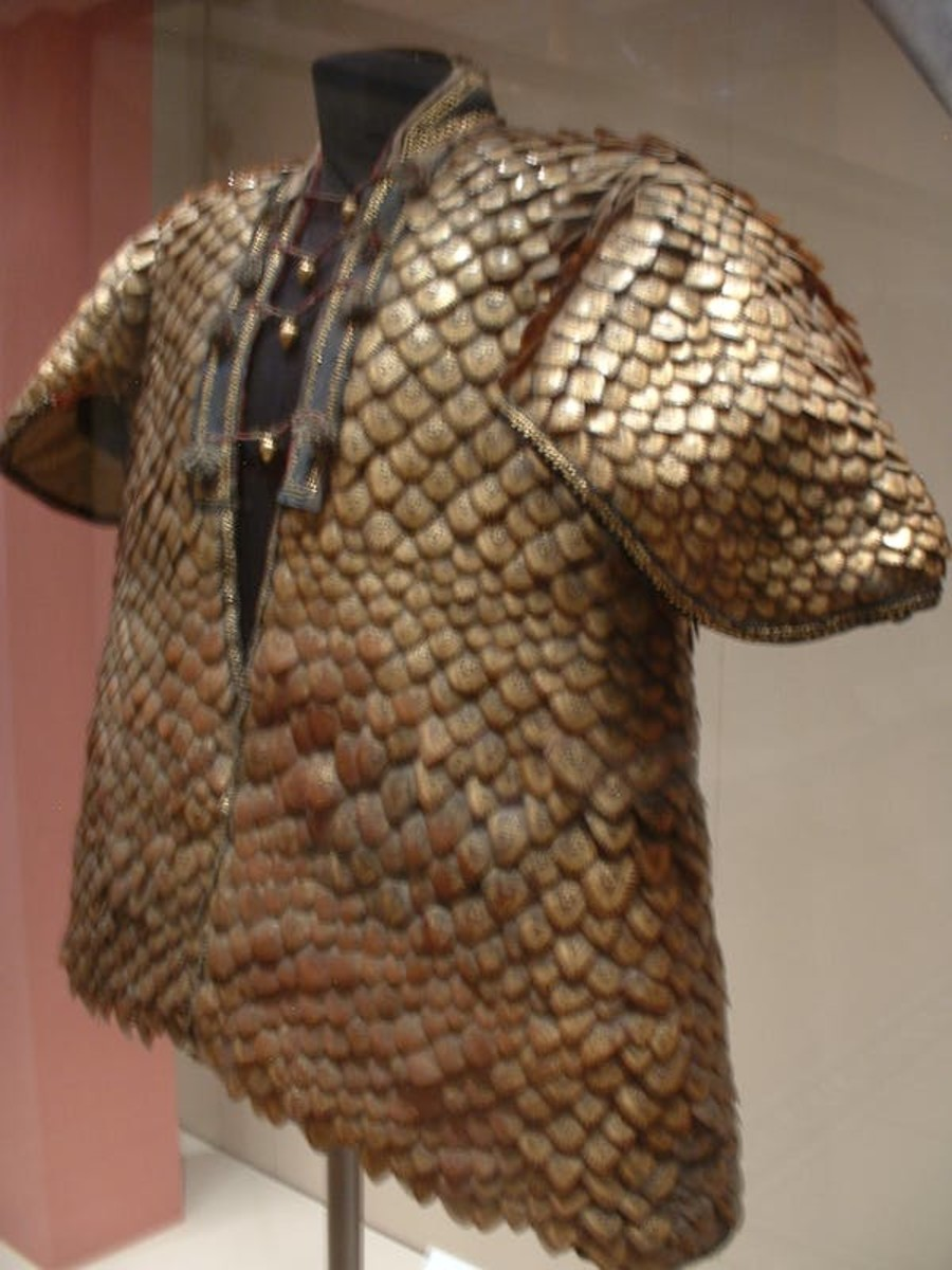 Coat made of pangolin scales, on display at the Royal Armouries in Leeds. The coat was given to King George III in 1820, along with a helmet also made with pangolin scales. Gaius Cornelius/Wikipedia