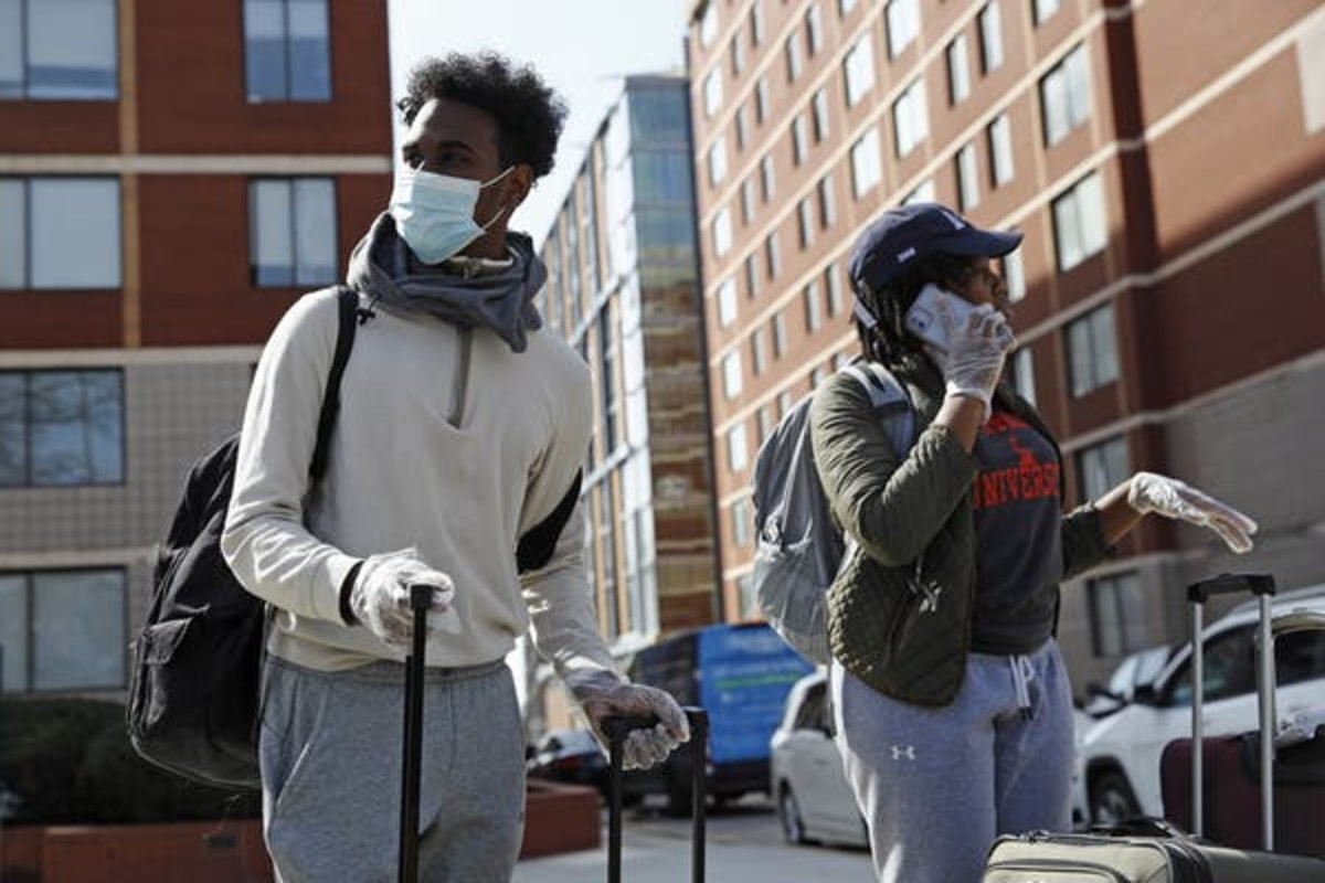 When universities closed their dorms during the coronavirus outbreak, it meant breaking contracts with students. Many schools, including Howard University, shown here, have agreed to pay partial refunds. AP Photo/Patrick Semansky