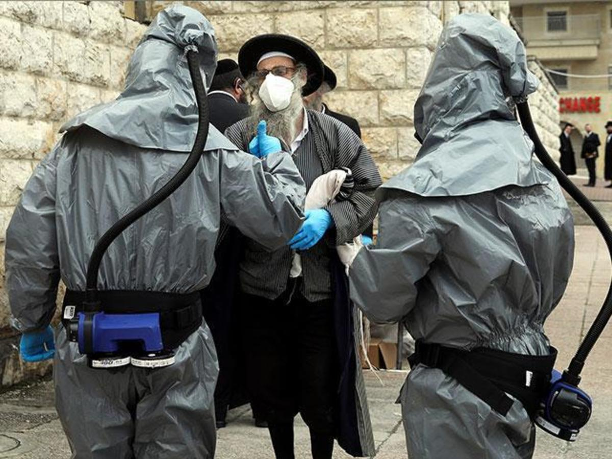 Quarantined Haredi neighborhood in Israeli, file image.
