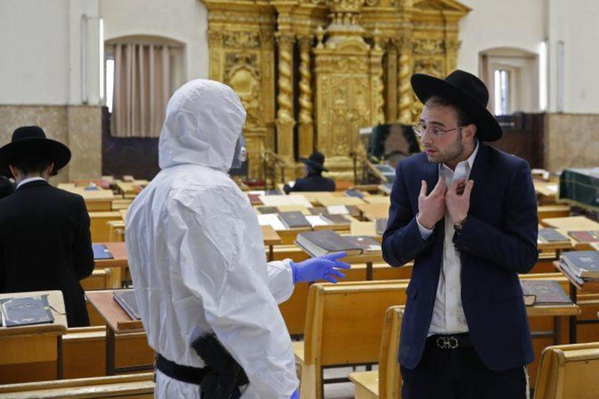 In the ultra-Orthodox Israeli city of Bnei Brak, via AFP.